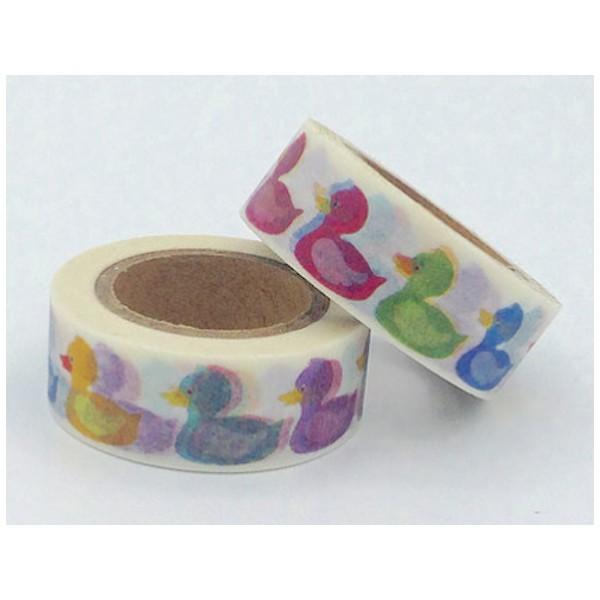 Masking tape canards colorés 15mm x 10m - Photo n°1