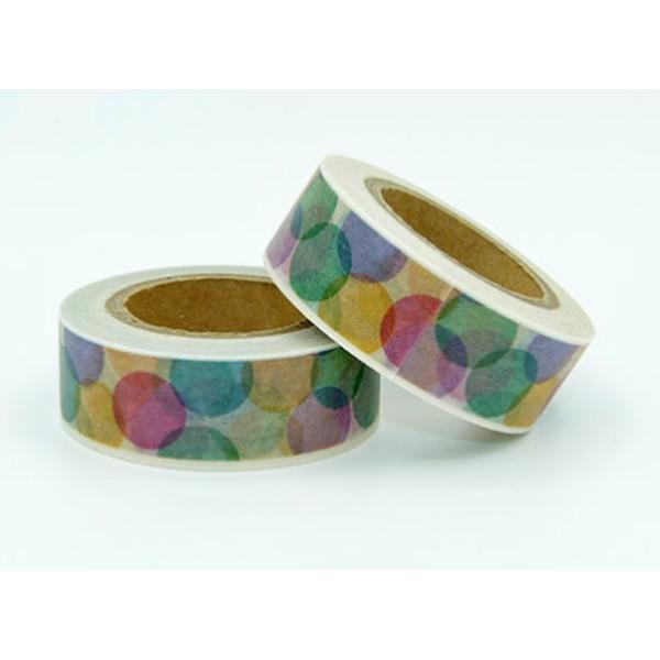 Masking tape pois colorés 15mm x 10m - Photo n°1