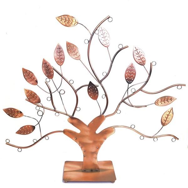 Porte bijoux arbre à boucle d'oreille et bijoux design Cuivre - Photo n°1