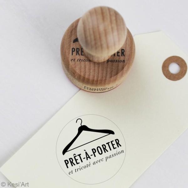 Tampon bois rétro Prêt à porter - 4 cm - Photo n°2