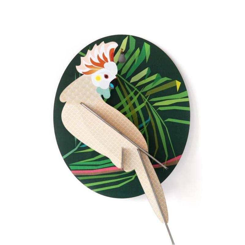 oiseau exotique cacato s d coration murale 3d studioroof kit maquettes bois et cartons creavea. Black Bedroom Furniture Sets. Home Design Ideas