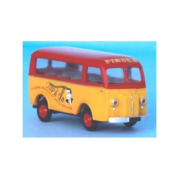 Miniature Peugeot D3a/D4a minibus Pinder, orchestre Fred Adison - Echelle HO (1/87) - Photo n°1