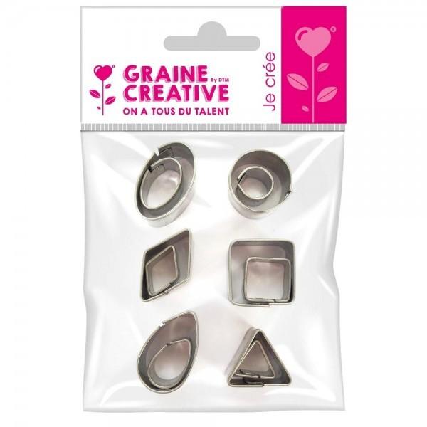 Lot de 12 MINI emporte-pièces en Inox Graine Créative 265027 - Photo n°1