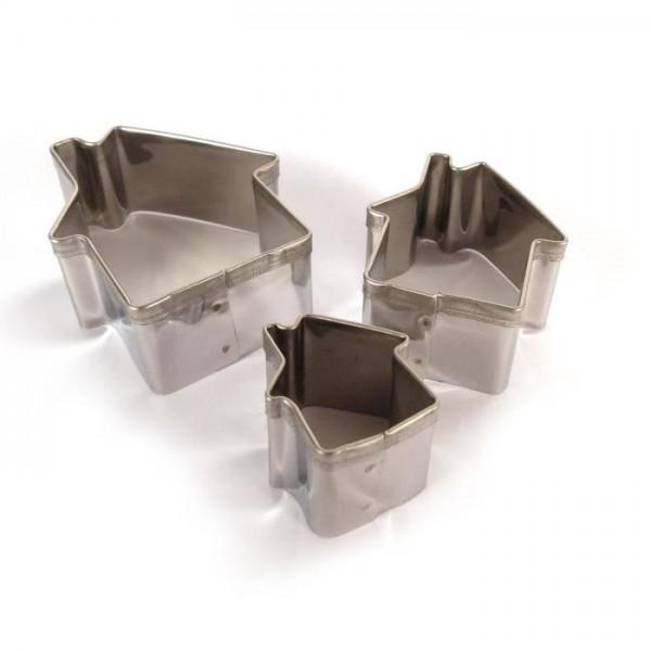 Lot de 3 emporte-pièces en Inox Maisons Graine Créative 265060 - Photo n°1