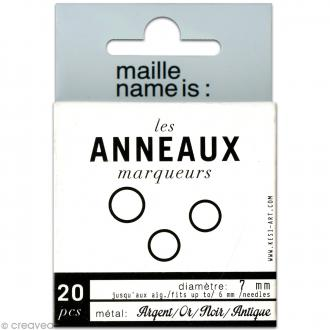 Anneaux marqueurs de mailles 8 mm - 20 pcs