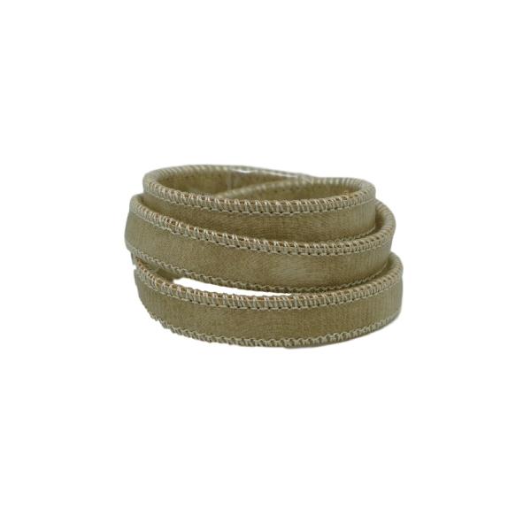 50cm Lanière Simili Cuir Vert Sauge Pâle Avec Couture 10mm - Cuir Synthétique - Photo n°2