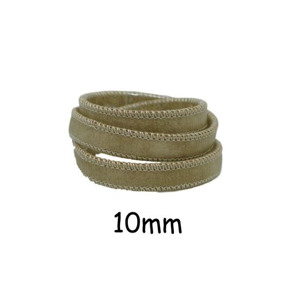 50cm Lanière Simili Cuir Vert Sauge Pâle Avec Couture 10mm - Cuir Synthétique - Photo n°1