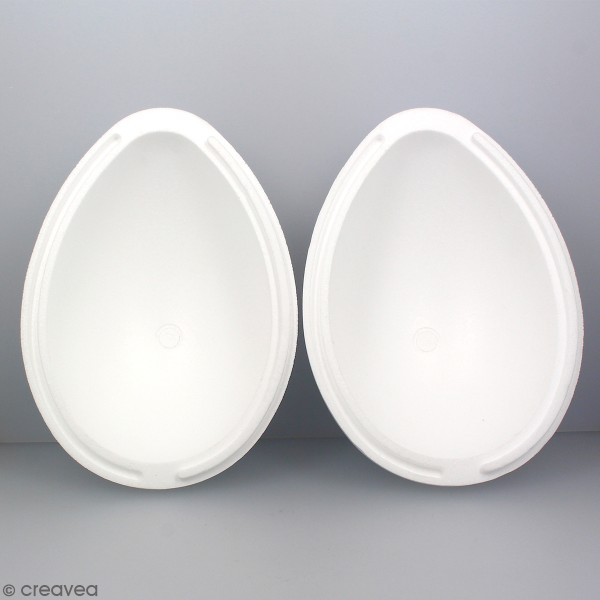 Oeuf en polystyrène - 2 parties - 15,5 cm - Photo n°4