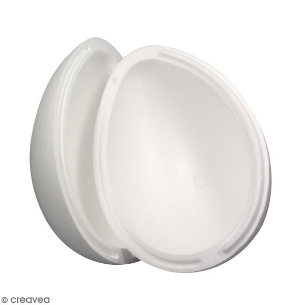 Oeuf en polystyrène - 2 parties - 20 cm - Photo n°1