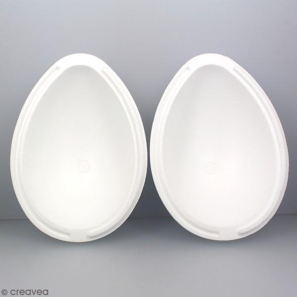 Oeuf en polystyrène - 2 parties - 28 cm - Photo n°4