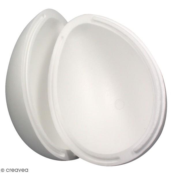 Oeuf en polystyrène - 2 parties - 28 cm - Photo n°1