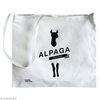 Tote bag Alpaga Forever - 38 x 42 cm