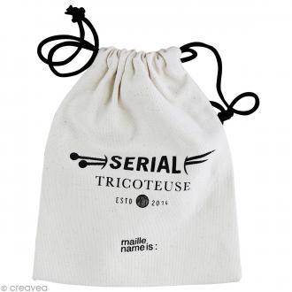 Sac polochon Serial tricoteuse - 16 x 20 cm