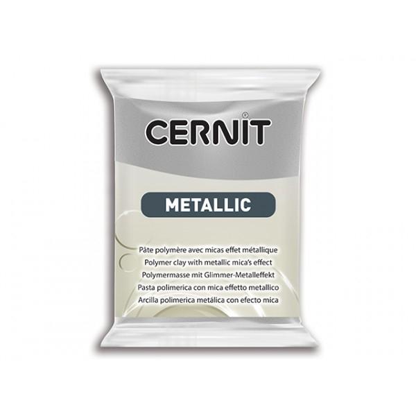Pâte Cernit Metallic Argent 56gr N°080 - Photo n°1