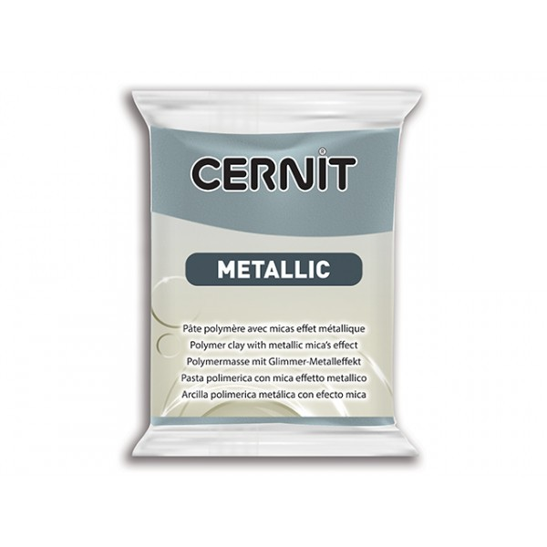 Pâte Cernit Metallic Acier 56gr N°167 - Photo n°1
