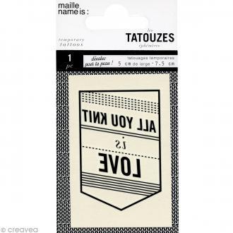 Tatouage temporaire pour la peau - All your Knit