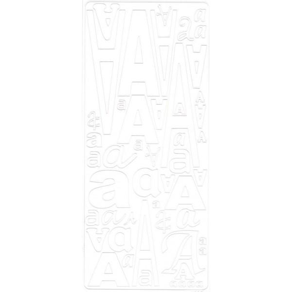Planche de stickers peel off alphabet blanc de A à Z Alphabet - U - Photo n°1