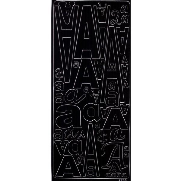 Planche de stickers peel off alphabet noire de A à Z Alphabet - B - Photo n°1