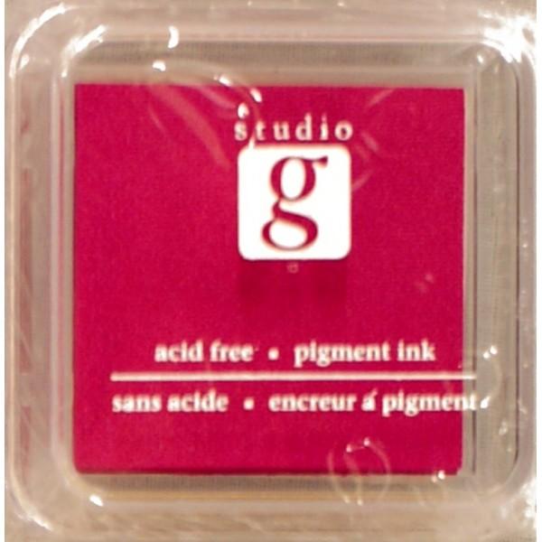 Encreur mini pad de studio G embossable Couleur - jaune moutarde - Photo n°1
