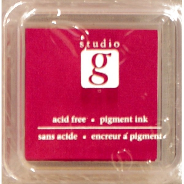 Encreur mini pad de studio G embossable Couleur - rose fushia - Photo n°1