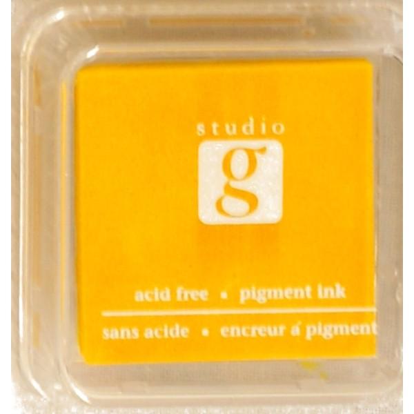 Encreur mini pad de studio G embossable Couleur - jaune - Photo n°1