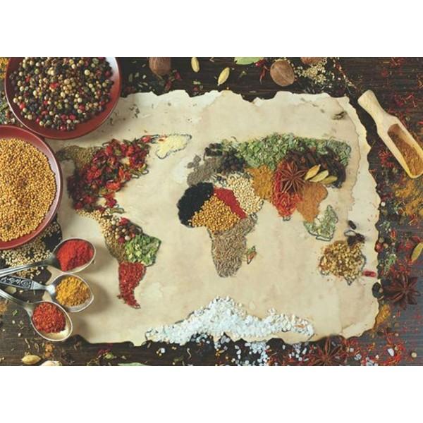 Carte du Monde épicée - Puzzle 1000 pièces Anatolian - Photo n°1