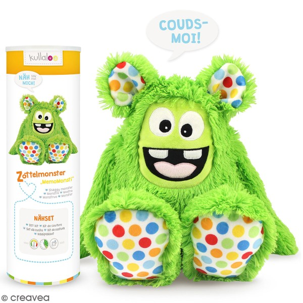 Kit Couture peluche - Monstre poilu vert - 40 cm - Photo n°1
