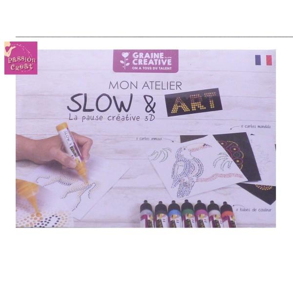 Coloriage Adulte Peinture.Coffret Mon Atelier Peinture 3d Slow Art De Graine Creative Kit
