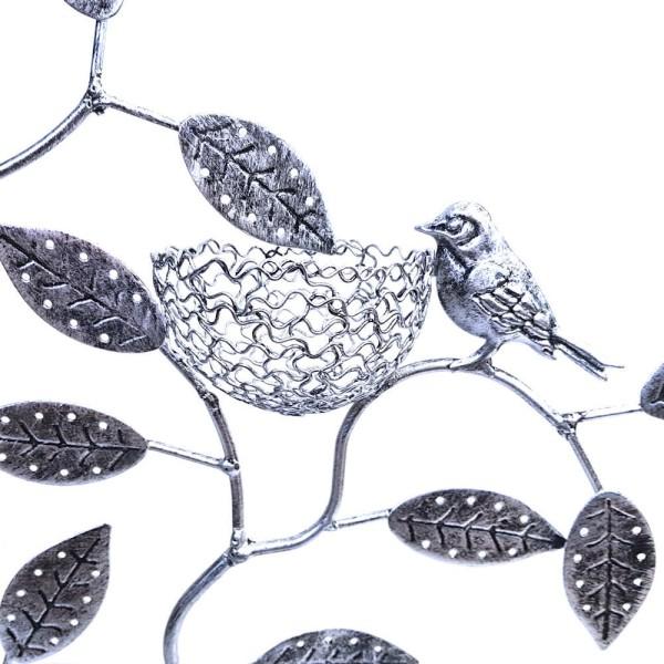Porte bijoux arbre à boucle d'oreille piou piou (60 paires) Gris patiné - Photo n°2
