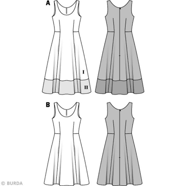 Patron Burda - Femme - Robe d'été élégante - 6758 - Photo n°3