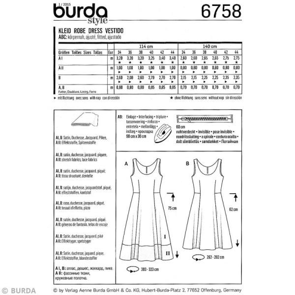 Patron Burda - Femme - Robe d'été élégante - 6758 - Photo n°4