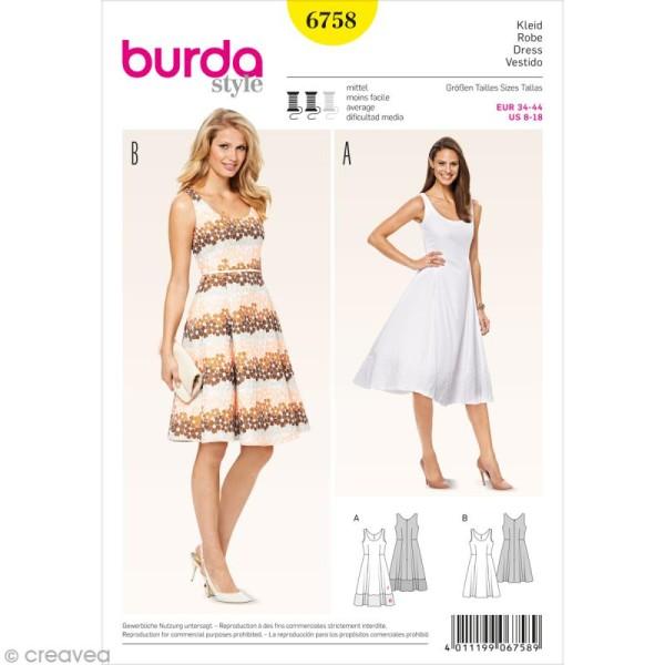 Patron Burda - Femme - Robe d'été élégante - 6758 - Photo n°1