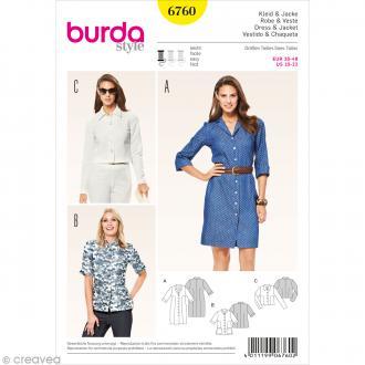 Patron Burda - Femme - Robe chemise et veste - 6760