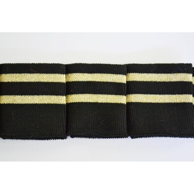 bande m tre bord c te noir et 2 bandes lurex dor 60 mm galon paillettes creavea. Black Bedroom Furniture Sets. Home Design Ideas