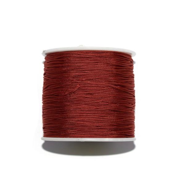 Fil nylon tressé 0,8 mm rouge sienne x1 m - Photo n°1