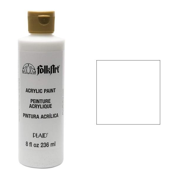 Peinture crémeuse Folkart Acrylique, flacon de 236 ml au choix, pour bois, carton, plâtre etc - Photo n°1