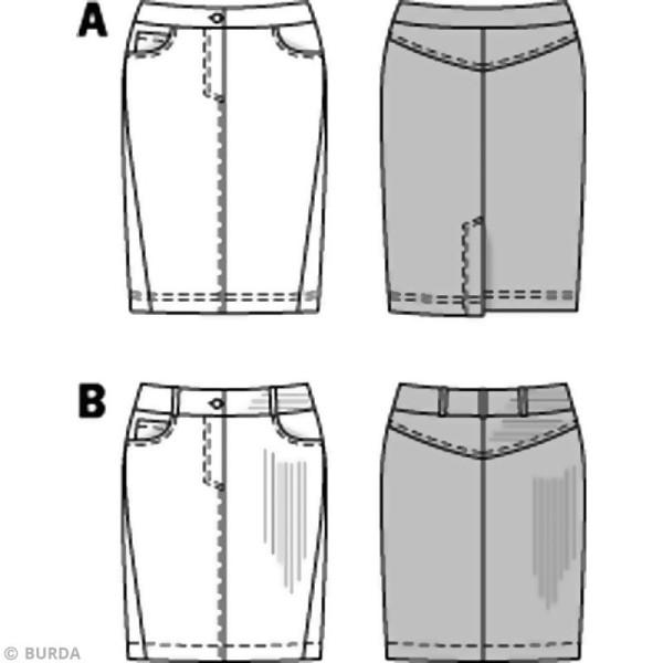 Patron Burda - Femme - Jupe jeans - 6769 - Photo n°3
