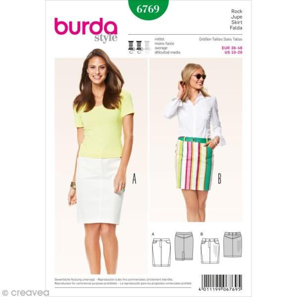 Patron Burda - Femme - Jupe jeans - 6769 - Photo n°1