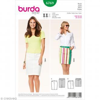 Patron Burda - Femme - Jupe jeans - 6769