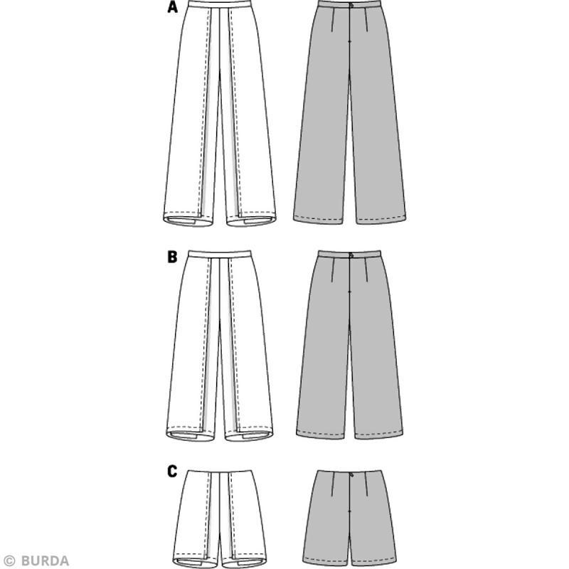 Patron Burda Femme Pantalon Tha 239 6771 Patron De