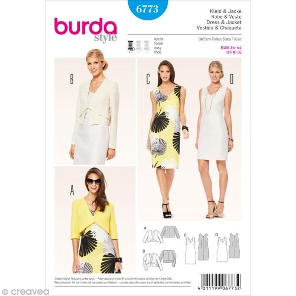 Patron Burda - Femme - Robe et veste courte - 6773 - Photo n°1
