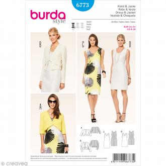 Patron Burda - Femme - Robe et veste courte - 6773