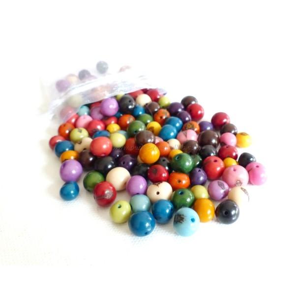 100 Perles Açai Multicolores - Photo n°1