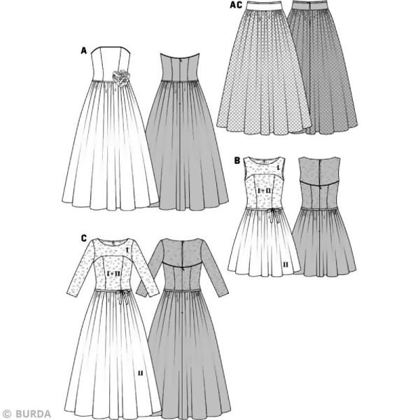 Patron Burda - Femme - Robe de mariée 2015 - 6776 - Photo n°3