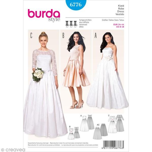 Patron Burda - Femme - Robe de mariée 2015 - 6776 - Photo n°1