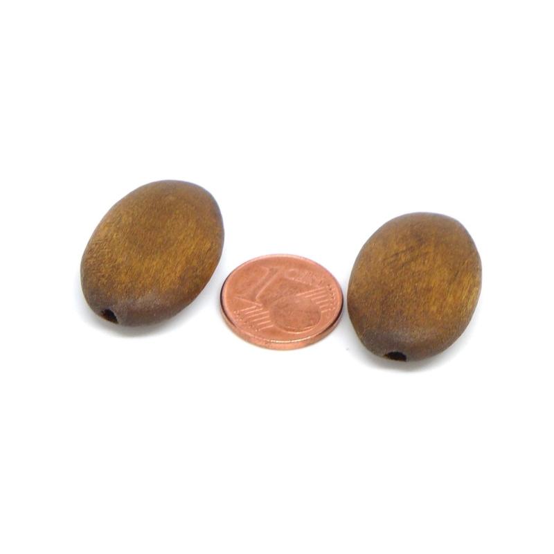 6 perles ovale en bois marron fonc mat pour cr ation bijoux guirlande scrapbooking perles. Black Bedroom Furniture Sets. Home Design Ideas