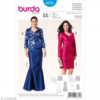 Patron Burda - Femme - Tailleur jupe original - 6781
