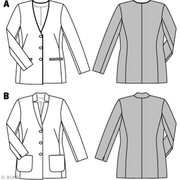 Patron veste pour femme