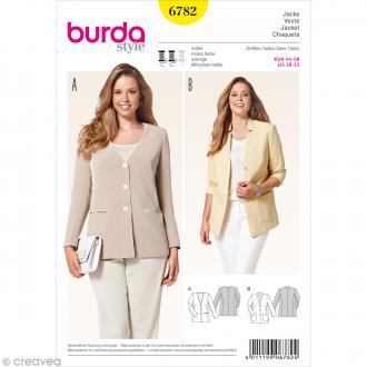 Patron Burda - Femme - Veste décontractée grande taille - 6782