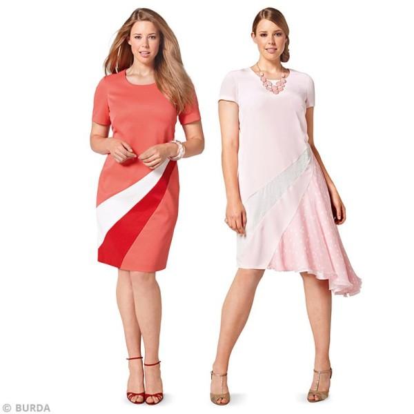 Patron Burda - Femme - Robe graphique grande taille - 6784 - Photo n°2